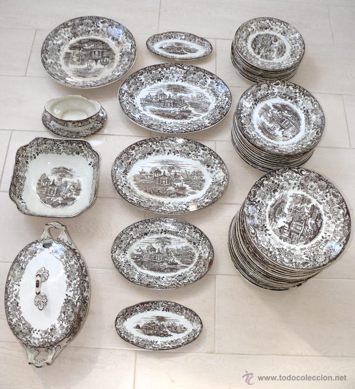 Gran vajilla antigua pickman la cartuja sevilla comprar cer mica y porcelana de la cartuja - Vajilla la cartuja ...