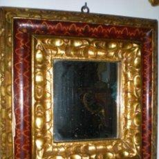 Antigüedades: ESPEJO MARCO DORADO Y POLICROMADO. Lote 39507693