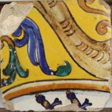 Antigüedades: 71- AZULEJO EN CERAMICA POLICROMADA S. XVII-XVIII.. Lote 39514874