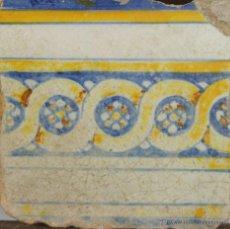 Antigüedades: 73- AZULEJO EN CERAMICA POLICROMADA S. XVIII.. Lote 39514938