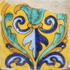Antigüedades: 74- AZULEJO EN CERAMICA POLICROMADA S. XVII-XVIII.. Lote 39514968