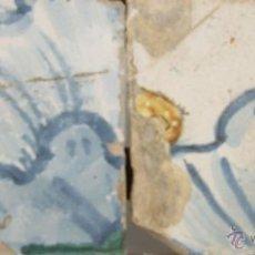 Antigüedades: 81- PAREJA DE AZULEJOS EN CERAMICA POLICROMADA S. XVIII. . Lote 39515582