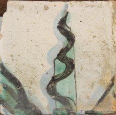 Antigüedades: 82- AZULEJO EN CERAMICA POLICROMADA S. XVIII.. Lote 39515655