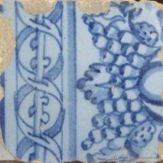 Antigüedades: 86- AZULEJO EN CERAMICA POLICROMADA EN AZUL. S. XVII-XVIII.. Lote 39515947