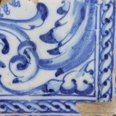 Antigüedades: 88- AZULEJO EN CERAMICA POLICROMADA EN AZUL. S. XVII.XVIII.. Lote 39516078