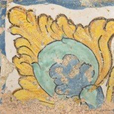 Antigüedades: 93- AZULEJO EN CERAMICA POLICROMADA. S XVII- XVIII. Lote 39516997