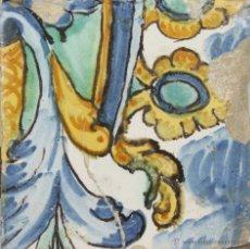 Antigüedades: 94- AZULEJO EN CERAMICA POLICROMADA S. XVII-XVIII. Lote 39517076
