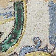 Antigüedades: 98- AZULEJO EN CERAMICA POLICROMADA S XVII-XVIII.. Lote 39517383