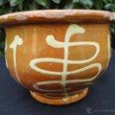 Antigüedades: ALFARERÍA CATALANA: MUY ANTIGUO BACÍN DE LA BISBAL. Lote 39527268