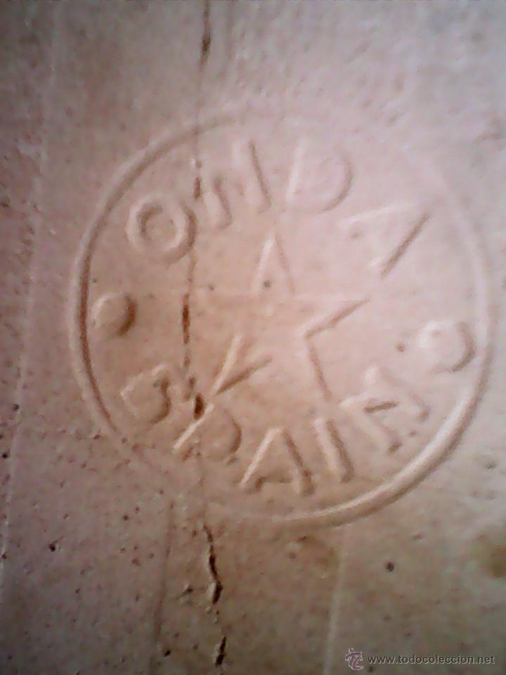 Antigüedades: ANTIGUO Y PRECIOSO AZULEJO,ENMARCADO EN FORJA TODO TRABAJADO,BAILARINES FLAMENCOS,ONDA SPAIN,FIRMADO - Foto 7 - 39535459