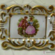 Antigüedades: MINI CUADRO -DE PORCELANA DE LIMOGES. Lote 39538496