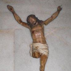 Antigüedades: CRISTO ANTIGUO. PASTA DE OLOT (1ª EPOCA). NECESITA RESTAURACIÓN.. Lote 39551696