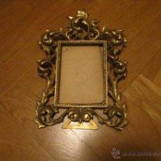 Antigüedades: ANTIGUO MARCO DE FOTOS DE BRONCE; MEDIDA: 20 X 17 CMS APROX. Lote 39553167