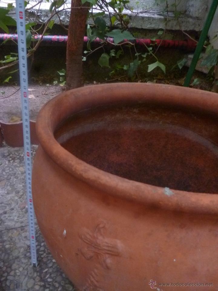 Antigüedades: MACETERO DE TERRACOTA - Foto 3 - 39555463