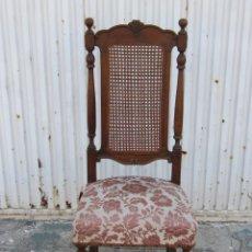 Antigüedades: SILLA DE FRANCISCO SALA CON RESPALDO DE REJILLA. Lote 39574191