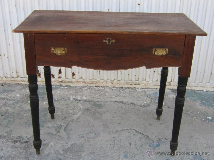 consola mesa recibidor de madera