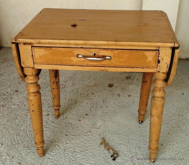 Tocinera mesa de cocina con alas y caj n par comprar - Mesas de recibidor antiguas ...