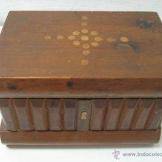 Antigüedades: ANTIGUA CAJA CAJON Y CERRADURA SECRETO !!! INCRUSTACIONES BOJ. Lote 39606975