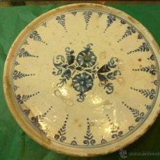 Antigüedades: FUENTE SALVILLA DE CERAMICA CATALANA CATALAN AZUL BLANCO. Lote 39615303