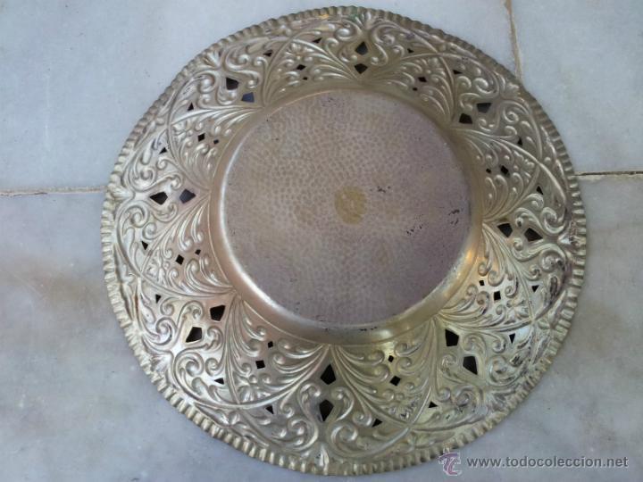 Antigüedades: Antiguo centro de mesa en metal plateado - Foto 4 - 43798850