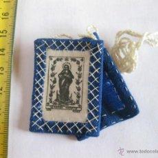 Antigüedades: ESCAPULARIO DE LA PURÍSIMA CONCEPCIÓN. ALGODÓN Y LANA.. Lote 39706708