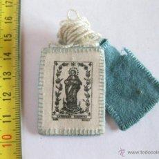 Antigüedades: ESCAPULARIO DE LA PURÍSIMA CONCEPCIÓN. FIRMADO LARA, MADRID.. Lote 39707322