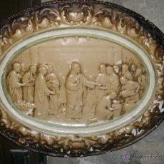 Antigüedades: BAJORRELIEVE ESCENA BÍBLICA JESÚS DE NAZARET. Lote 39626123