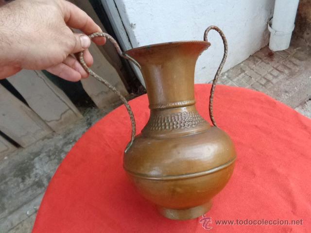 Antigüedades: Florero español de cobre años 50 - Foto 3 - 39627085