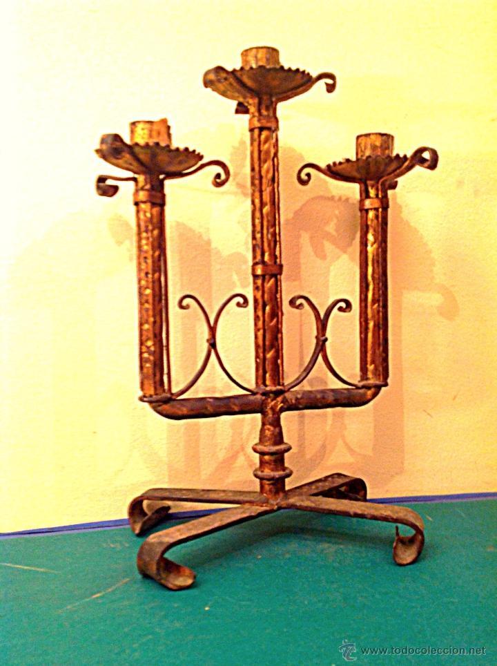 CANDELABRO DE IGLESIA ALTAR (Antigüedades - Religiosas - Orfebrería Antigua)
