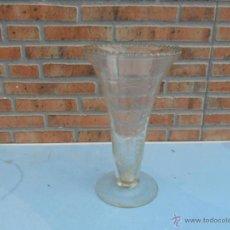 Antigüedades: FLORERO DE CRISTAL ANTIGUO. Lote 39665330