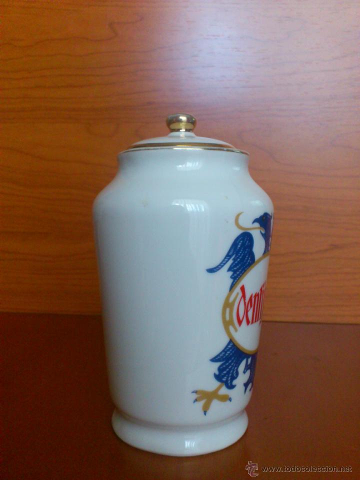 Antigüedades: Antiguo albarelo de farmacia DENTIJUSTE, FABRICA DE PORCELANAS SANTA CLARA MOISES ALVAREZ - Foto 3 - 39665466