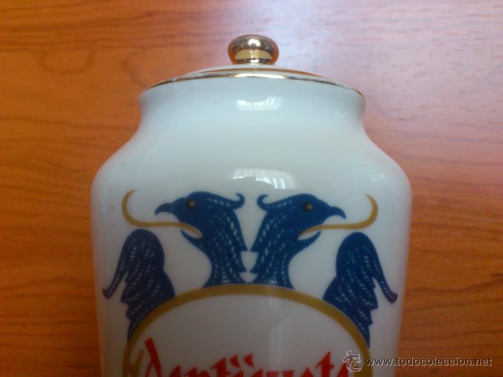 Antigüedades: Antiguo albarelo de farmacia DENTIJUSTE, FABRICA DE PORCELANAS SANTA CLARA MOISES ALVAREZ - Foto 8 - 39665466