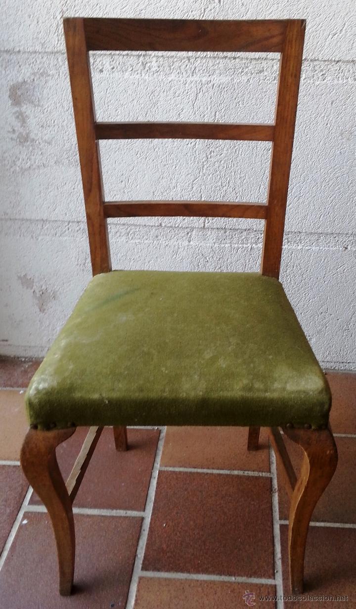 SILLA SUELTA ANTIGUA DE ROBLE. PARA TAPIZAR. (Antigüedades - Muebles Antiguos - Sillas Antiguas)