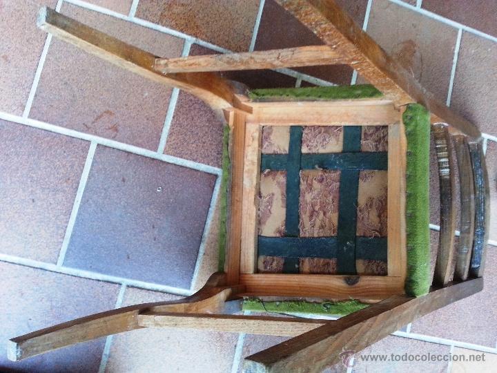 Antigüedades: SILLA SUELTA ANTIGUA DE ROBLE. PARA TAPIZAR. - Foto 4 - 39677210