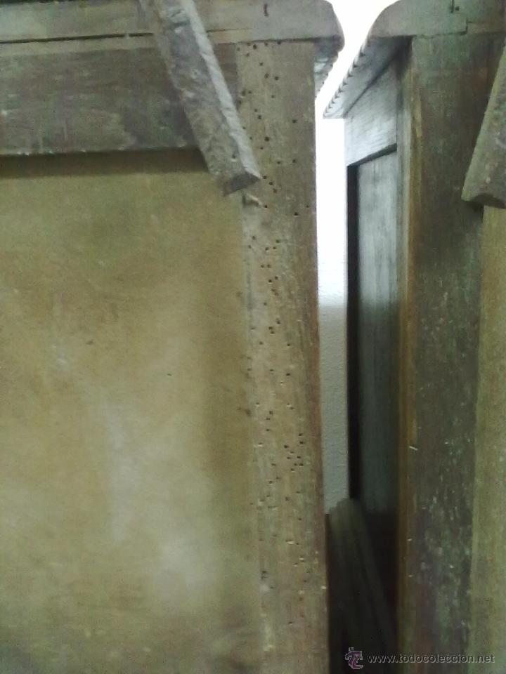 Antigüedades: PAREJA DE MESILLAS DE NOCHE ROBLE ART-DECO PARA RESTAURAR - Foto 7 - 39679041