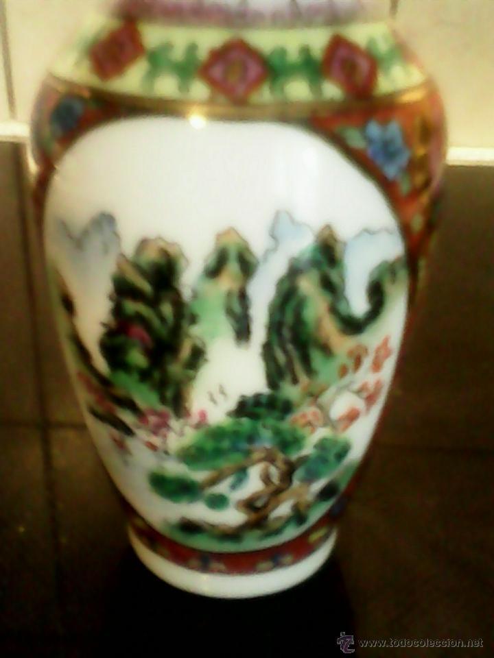 Antigüedades: PRECIOSA JARRA DE PORCELANA ,CHINA PINTADA A MANO - Foto 2 - 39681350