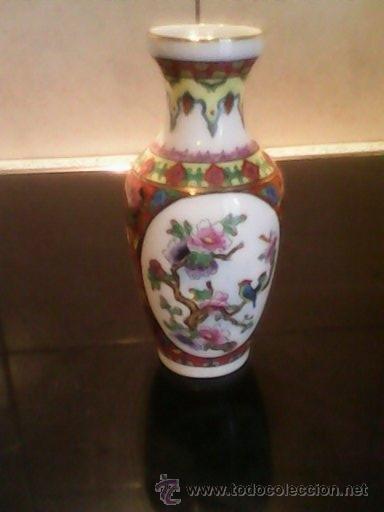 Antigüedades: PRECIOSA JARRA DE PORCELANA ,CHINA PINTADA A MANO - Foto 3 - 39681350