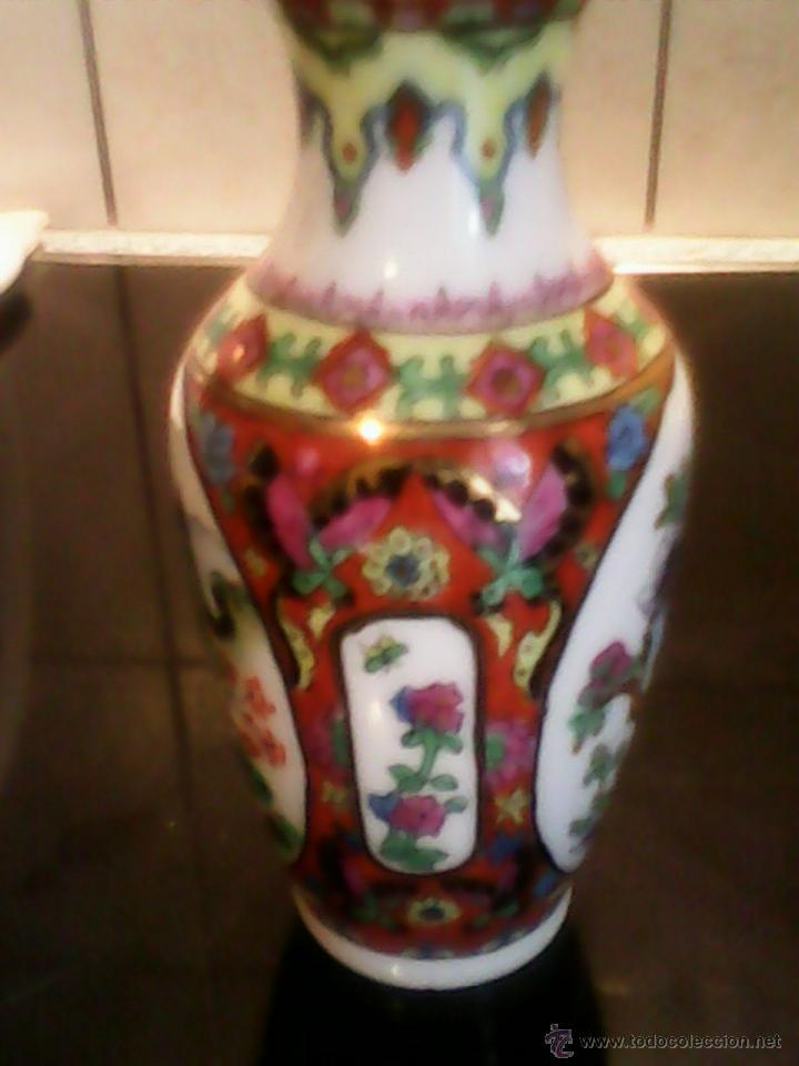 Antigüedades: PRECIOSA JARRA DE PORCELANA ,CHINA PINTADA A MANO - Foto 4 - 39681350