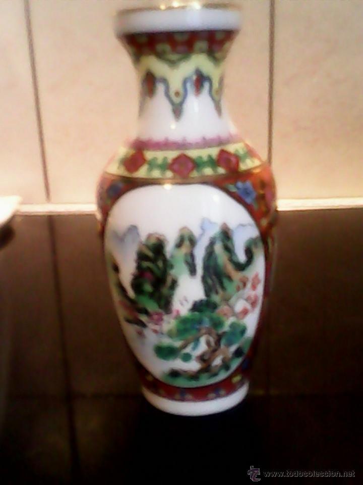 Antigüedades: PRECIOSA JARRA DE PORCELANA ,CHINA PINTADA A MANO - Foto 5 - 39681350