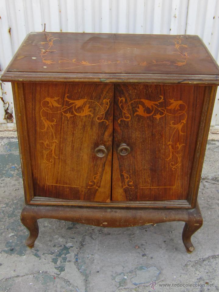Mesilla en madera chapeada para restaurar comprar for Restaurar muebles antiguos