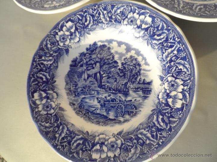 Plato ceramica lote de 6 platos muy bonitos dib comprar botijos jarras nforas y otras - Platos ceramica colores ...