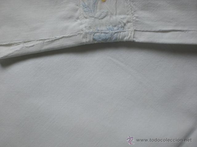 Antigüedades: SABANA de algodón con cubre-costuras y funda de almohada - Foto 4 - 39702789