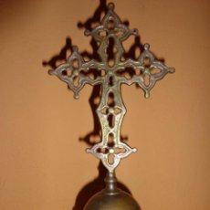 Antigüedades: PRECIOSA Y ANTIGUA CRUZ GUÍA SOBRE PEDESTAL. Lote 39706680