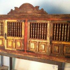 Antigüedades: MUEBLE ALACENA POLICROMADO. Lote 48956601