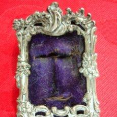 Antigüedades: ANTIGUO Y MINIATURA MARCO DE PLATA, INGLES. Lote 39718231