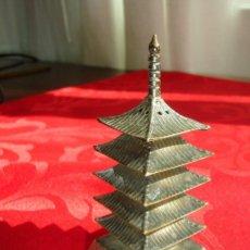 Antigüedades: SALERO DE PLATA STERLING - JAPONESE PAGODA. Lote 39718641