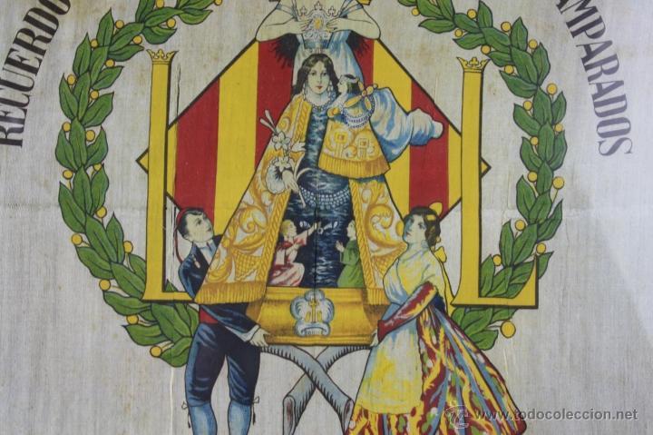 Antigüedades: K1-008.PAÑUELO EN SEDA. RECUERDO DE LA CORONACION DE NTRA. SRA. DE LOS DESAMPARADOS. VALENCIA 1923. - Foto 3 - 39735017