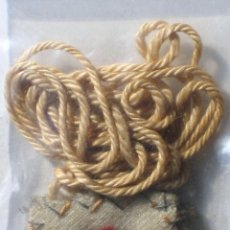Antigüedades: ANTIGUO ESCAPULARIO CON CRUZ- ROJA /AZUL. Lote 113309832