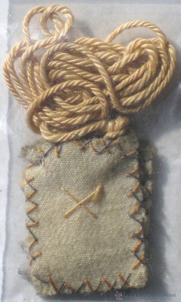 Antigüedades: Antiguo escapulario con cruz- roja /azul - Foto 2 - 113309832