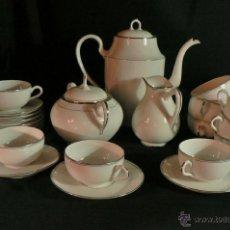 Antigüedades: JUEGO DE CAFE EN PORCELANA DE LIMOGES. Lote 39738035